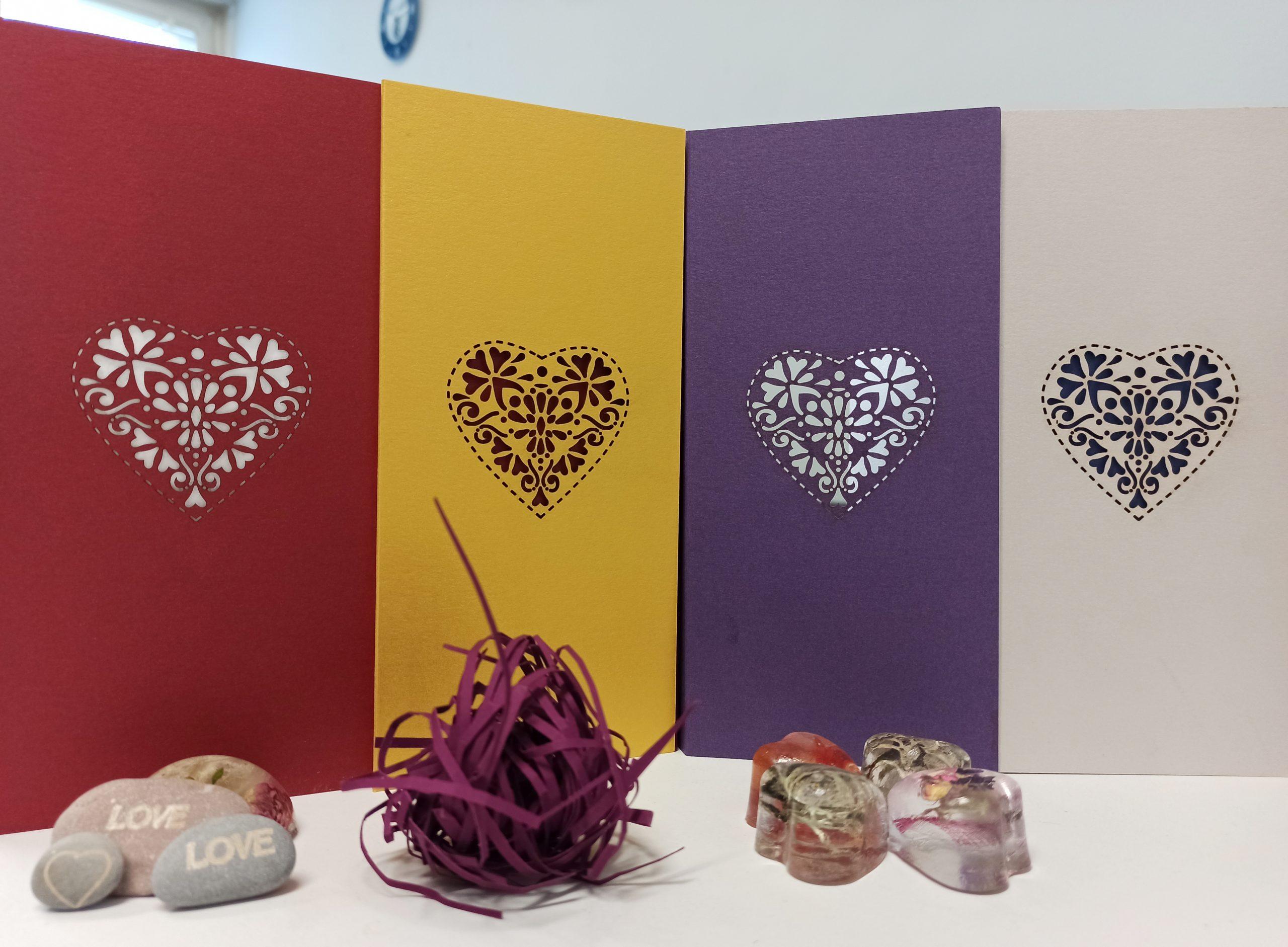 Уникални картички с лазерно гравиране за Свети Валентин